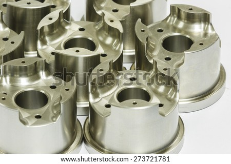 mold and die parts machining by high precision CNC machining - stock photo