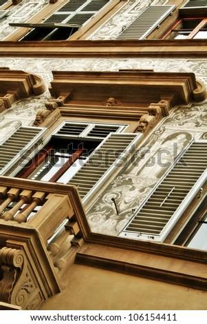 molding art, Florence, Italy, Renaissance - stock photo