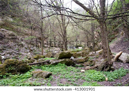 Moldova Beauty. Nature around the Monastery of Saharna, the Republic of Moldova - stock photo
