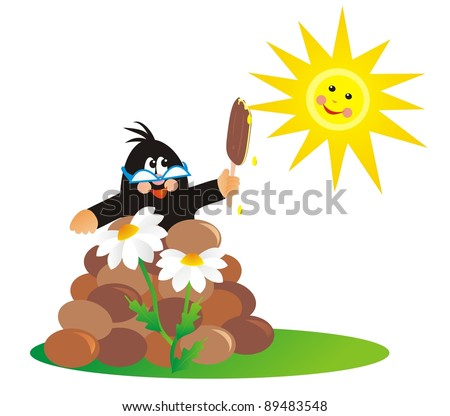mole and lolly - stock photo