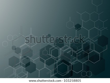 Molecular background - stock photo