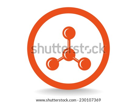 molecular compound web icon.  - stock photo