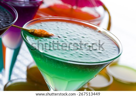 Molecular mixology - Fresh cocktail  - stock photo