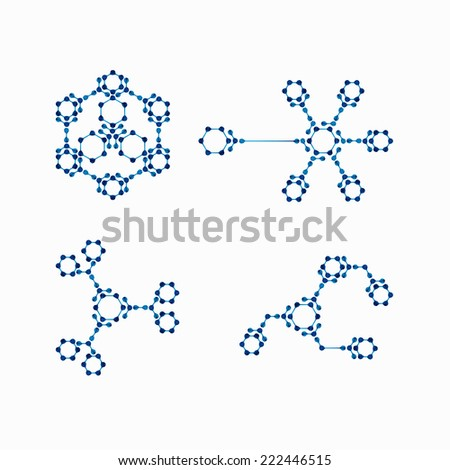 molecular structure - stock photo