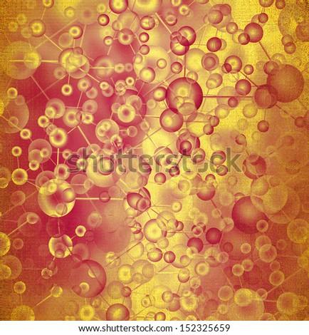 Molecule background - stock photo