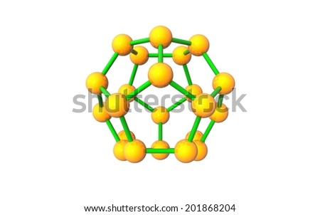 molecule 3d icon on white background