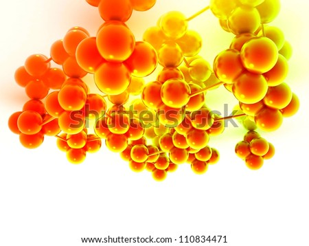 Molecule 3d render illustration - stock photo