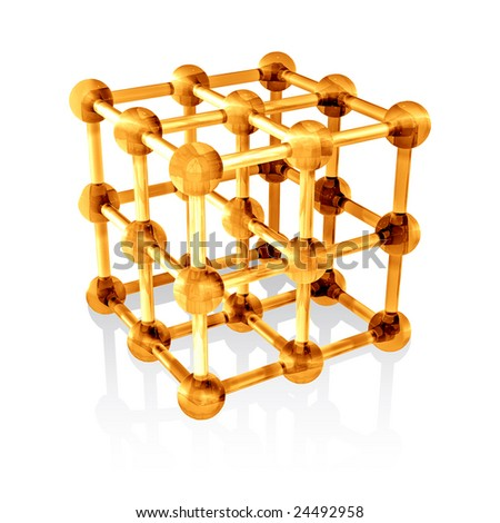 Molecule on white background (isolated). - stock photo