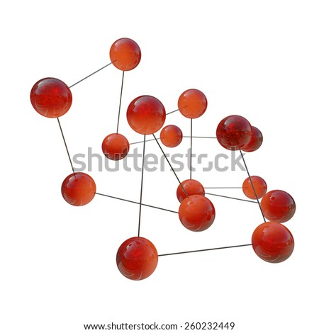 Molecules - 3d rendered illustration - stock photo