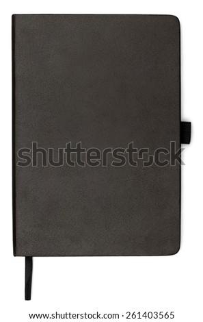 Moleskin, notebook, black. - stock photo