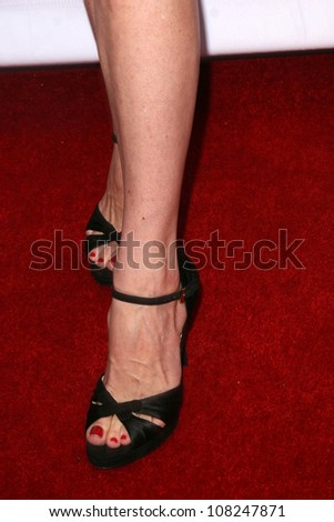 Molly Parker's shoes  at the CBS, CW and Showtime Press Tour Stars Party, Boulevard3, Hollywood, CA. 07-18-08