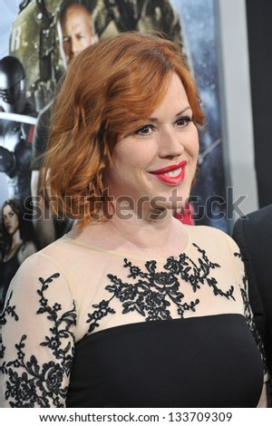 """Molly Ringwald at the Los Angeles premiere of """"G.I. Joe: Retaliation"""" at the Chinese Theatre, Hollywood. March 28, 2013  Los Angeles, CA Picture: Paul Smith - stock photo"""