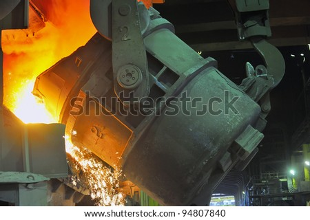 molten steel - stock photo