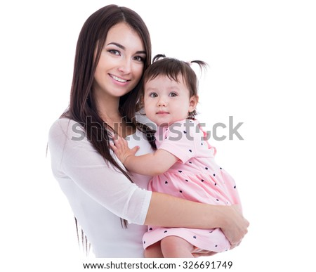 Mom and baby of fifteen months of age
