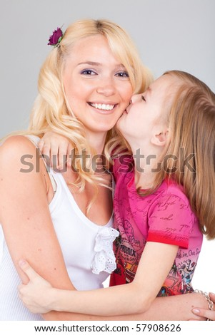 Mom and Daughter Having Fun