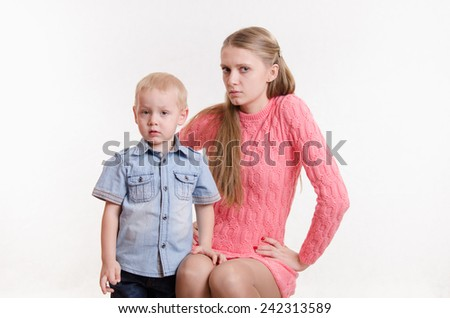 Mom unhappy with the behavior of his son