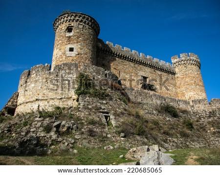 Mombeltran castle, Avila, Castilla y Leon, Spain - stock photo