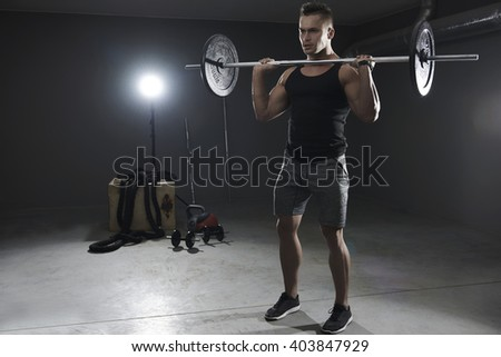 Moment of concentration before weight lifting