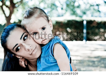 Mommy and baby love - stock photo