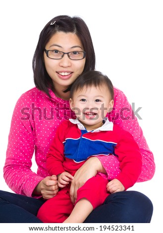 Mommy and little baby - stock photo
