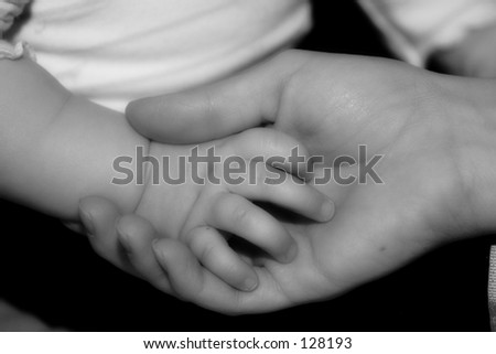 Mommy's Hand - stock photo