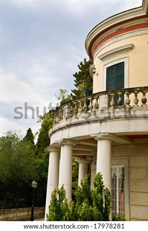Mon Repo palace at Corfu island, Greece - stock photo