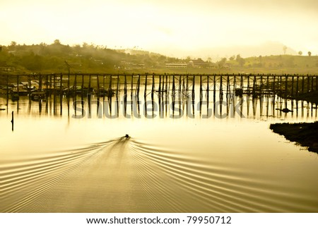 Mon wood Bridge - stock photo