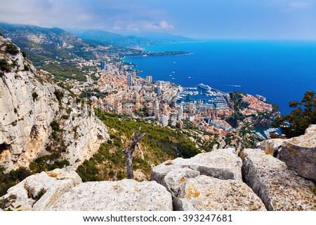Monaco architecture - aerial view  - stock photo