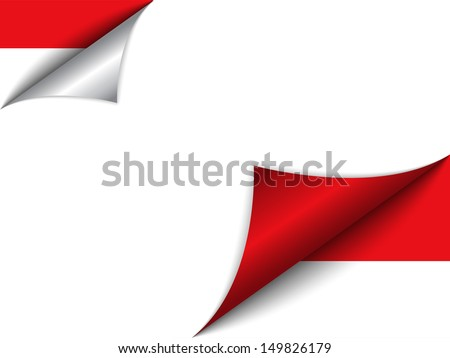 Monaco Country Flag Turning Page