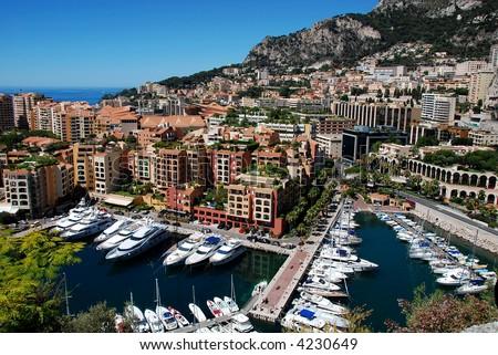 Monaco Fontvieille - stock photo
