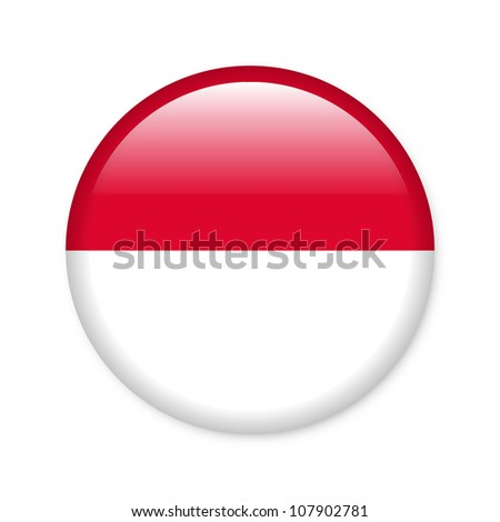 Monaco - glossy button with flag