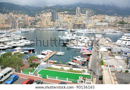 Monaco harbour, Monte Carlo - stock photo