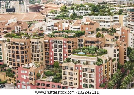 Monaco roofs - stock photo