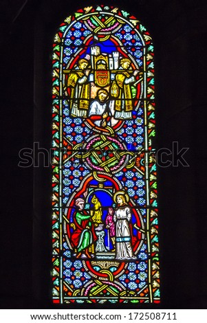 MONACO � VILLE, MONACO - AUGUST 31, 2012: Interior of Saint Nicholas Cathedral - consecrated in 1875, located on site of the church built in 1252 and dedicated to St. Nicholas.