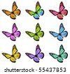 Monarch Butterfly in Various Colors - stock photo
