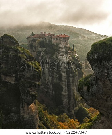 monasteries Greece. Meteora, Greece - stock photo