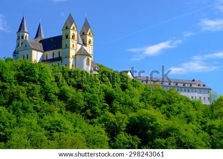 Monastery Arnstein in Germany - stock photo