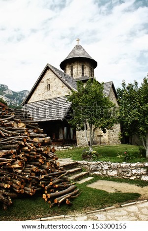 "Monastery ""Blagovestenje"" (eng. Annunciation) is placed in Ovcar-Kablar gorge, Serbia. Built in 1602. A.D. Late Patriarch Pavle of Serbian orthodox church become a monk in this monastery. - stock photo"