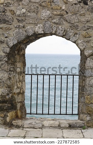 Gate Old Medieval Castle Stock Photo 128552708 Shutterstock