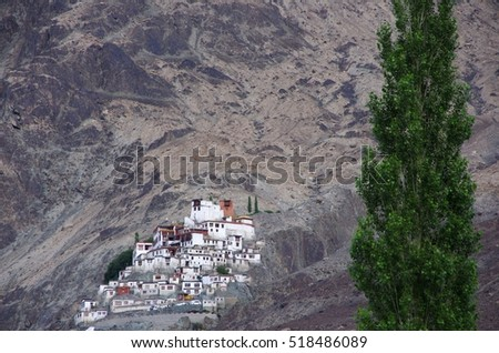 Monastery in Diskit in Ladakh, India