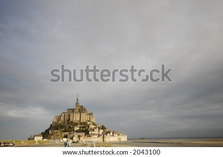 Monastery in the Sea - stock photo