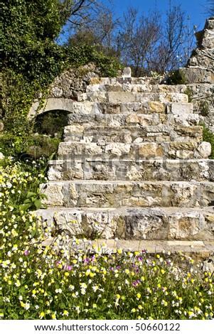 Monastery of Archangel Michael at Lefkada, Greece - stock photo