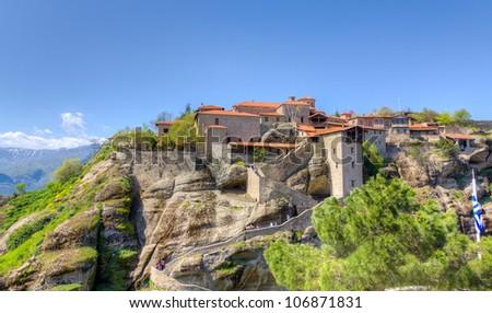 Monastery of Grand Meteoro, Meteora, Greece - stock photo