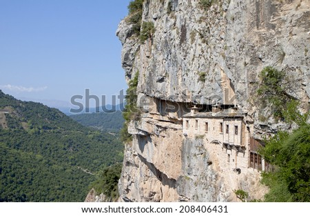 Monastery of Kipina at Epirus mountains, Tzoumerka area, in Greece