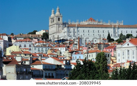 Monastery of Saint Vincent Outside the Walls, Lisbon, Portugal - stock photo