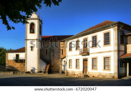 Monastery of Santa Maria de Vila Boa do Bispo in Marco de Canavezes, north of Portugal