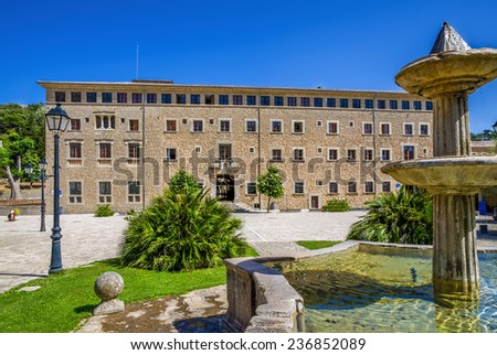 Monastery of Santuari de Lluc - stock photo
