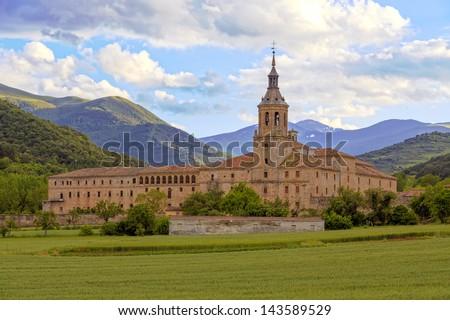 Monastery of Yuso, San Millan de la Cogolla, La Rioja, Spain, UNESCO World Heritage Site - stock photo