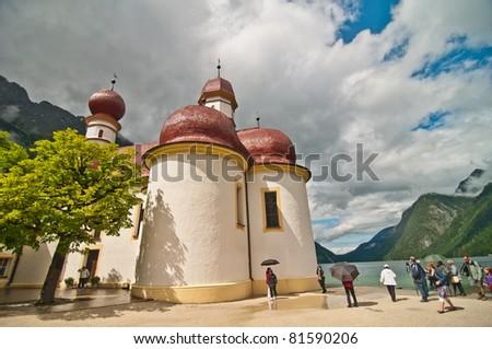 monastery on kingsea, germany - stock photo