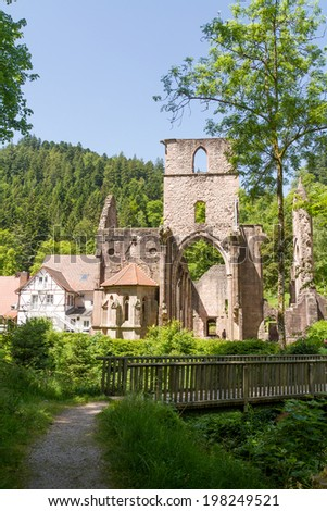 Monastery ruins of All Saints, Black Forest, Baden-Wuerttemberg, Germany, Europe